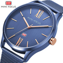 Mini Focus Brand Your Own Logo Men Quartz Analog Wrist Watch with Mesh Band Free Sample reloj watch