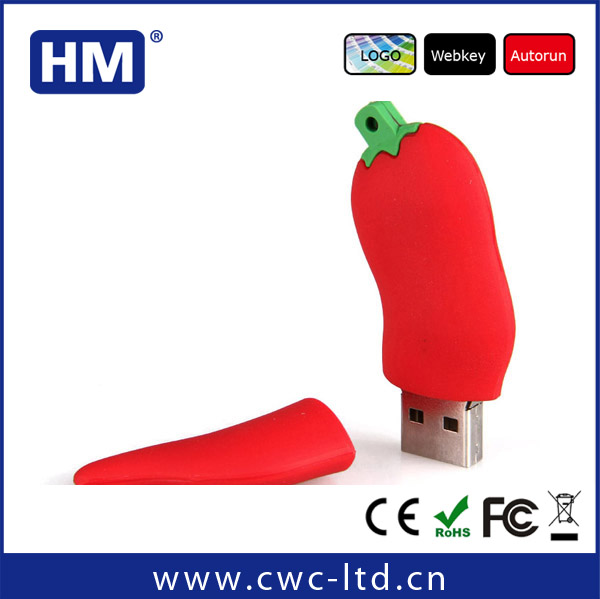 personalised customized Vegetables shaped chilli pepper usb stick flash drive-2