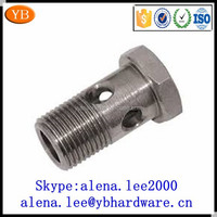Factory carbon steel hollow bolt,cotter pin bolt,electric bolt lock 10.9 ISO9001:2008