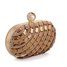 2017 Sparkling diamond evening bag women cluth party bag