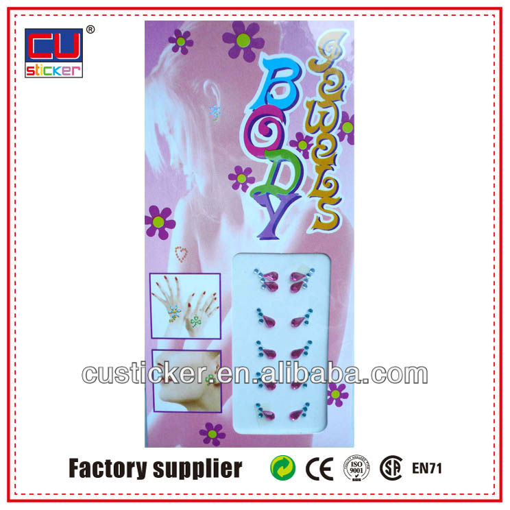 Popular diamond face jewel stickers