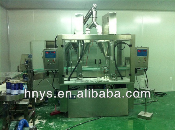 Automatic powder packing line