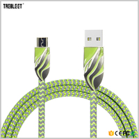 Customized Logo 1m Length Zinc Alloy Metal Micro Usb Charging Data Cable
