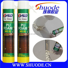 Multi-purpose 750ml white well Expanding Pu Foam scrap for Seal Gaps