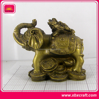 3D Metal Antique Animal Elephant Figurine for Desk Decoration