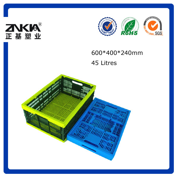 Fold and stackable box/crate