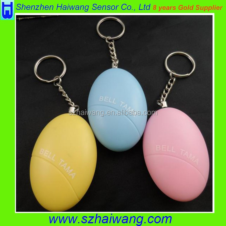 Self Defense Alarm System Loud Personal Anti Rape Security Alarm Alert Attack Panic Emergency Egg Keychain