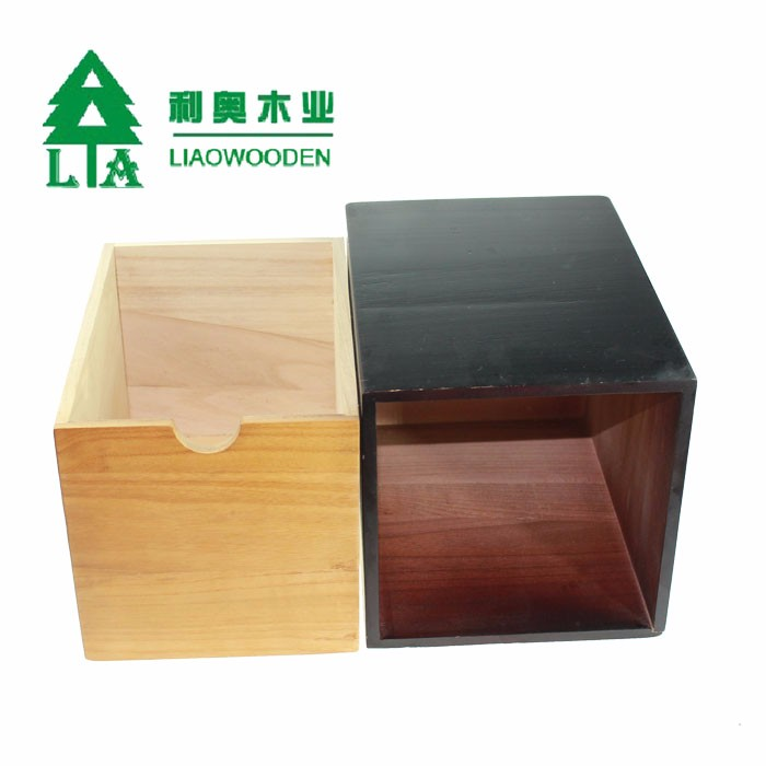 Professional unfinished wooden tea storage box of China