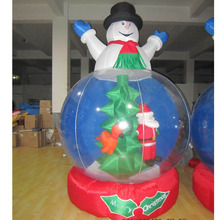 Cute movable giant inflatable Christmas crystal ball christmas ornaments ball for sale