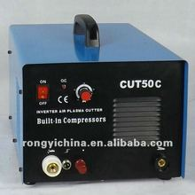 Shanghai Rongyi New Mini Mosfet Inverter DC Plasma Cutter With Buit-in Compressor 50A CUT50C