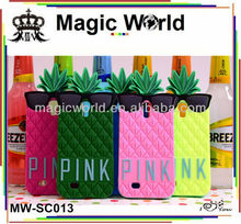 Unique newest ananas style silicone phone case for samsung galaxy s4