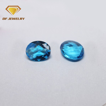 AAA Top Quality London Blue Topaz Oval Cut Gemstones