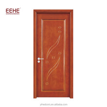 Flush Door Design Fancy Wood Door Window Inserts with Glass
