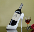 2016new arrival handmade decorative high heel shoe wine holder
