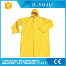 0.28mm PVC yellow raincoat