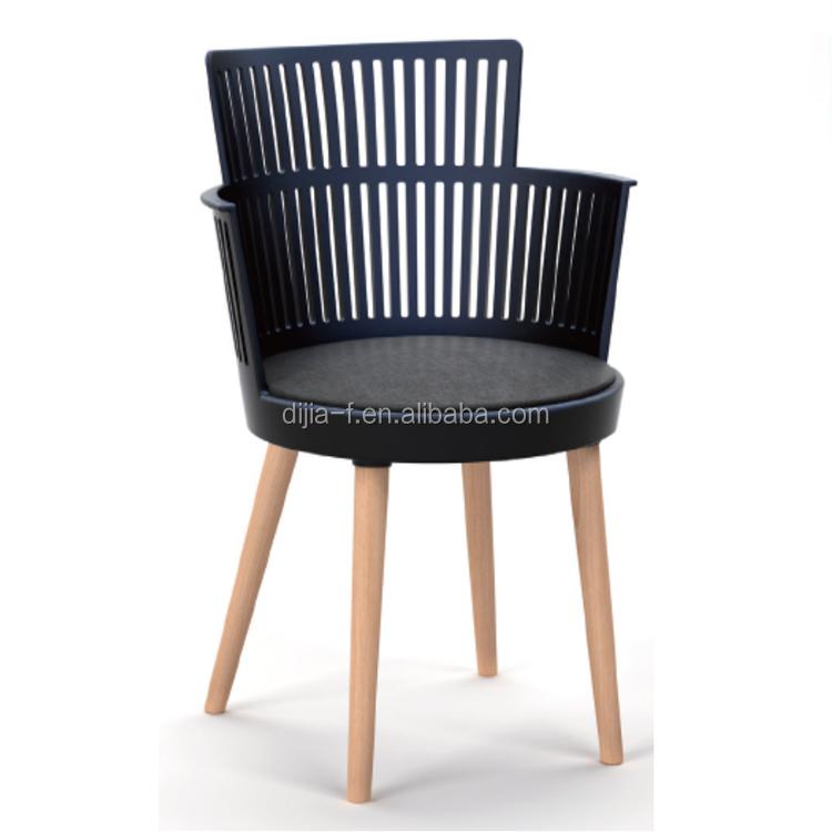 nuevo diseo del restaurante de patas de madera de plstico silla de comedor