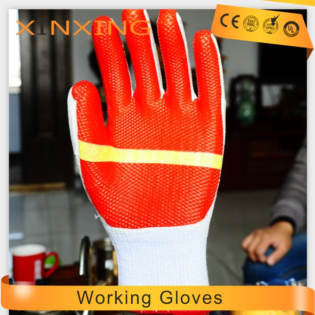 best quality rubber working gloves working gloves for Construction,inductrial work,farm,garden,warehousing