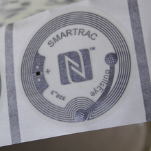 38MM BULLSEYE SMARTRAC NFC STICKERS CLEAR (WET INLAY) NTAG213
