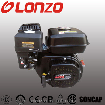 New LZ168F 6.5HP GX160 Single Cylinder 4-Stroke OHV Gasoline Engine With 1 Year Warranty