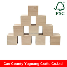 Cao County Yuguang Crafts customized wooden cubes, cheap wooden blocks