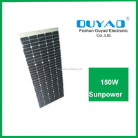 Ultra-thin mono semi flexible solar panel 150W for building integrated photovoltaic