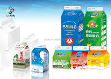 Gable Top A Milk Packages