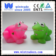 wholesale vinyl animal lighted PVC plastic frog bath toy