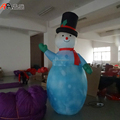Lighting Inflatable Printed Snowman for New Year Decoration