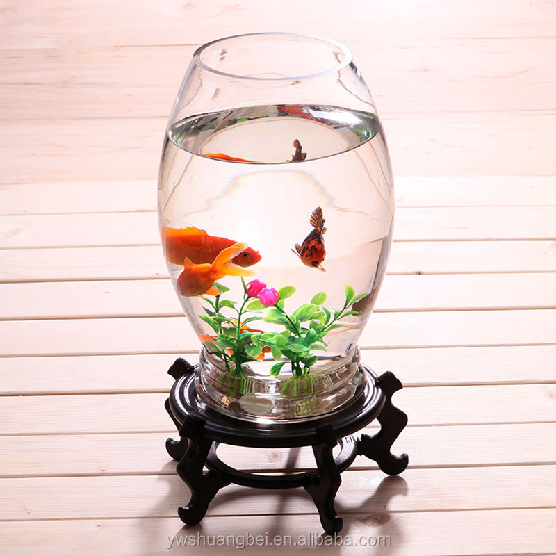 Hot selling egg shaped glas fish tank with glass stand