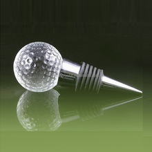 Golf ball crystal craft wine stopper blank for wedding/office/home decoration