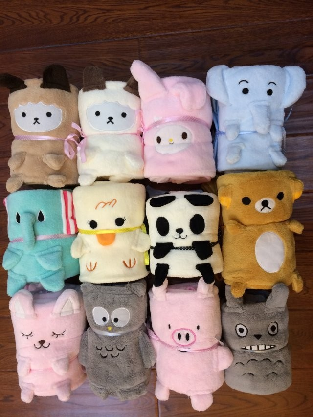 Soft blanket toys for kids Christmas blanket animal shape blanket