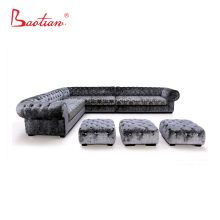 Big luxury L shape sectional chesterfield sofa for living room