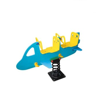 Made In China Playground Plastic Airplane Spring Riders