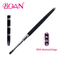 BQAN Newest Developed Black Metal Handle Nail Gel Brush With Diamond Logo