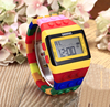 simple personal silicon watch,rainbow watch 22 colors