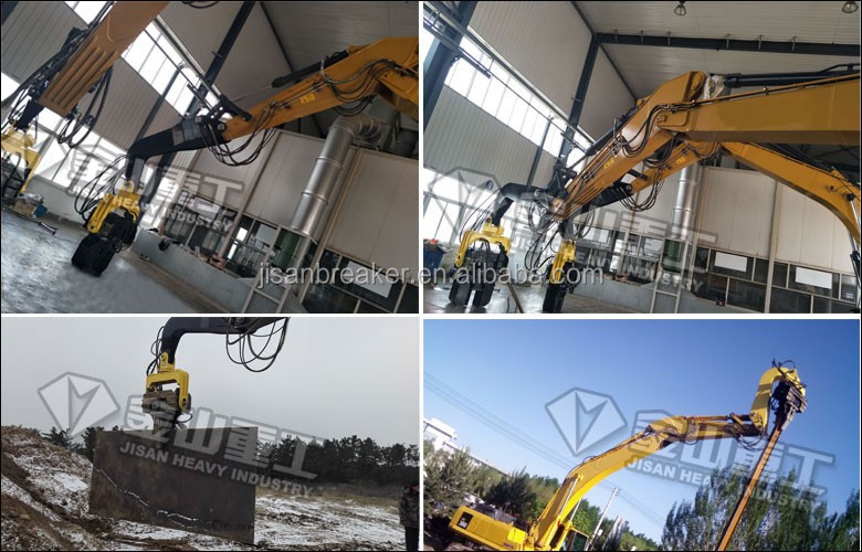 High quality excavator hydraulic pile driver hammer with automatic clamp