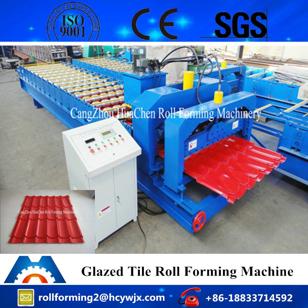 Hot Sale! HC25 Galvanized Colored Steel Roof Panel Glazed Tile Making Machine For Sale