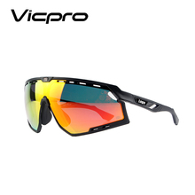 Cycling Sunglasses Bike Glasses for Men Women Sports Goggles UV Protection 3 Interchangeable Lenses Sports Goggle