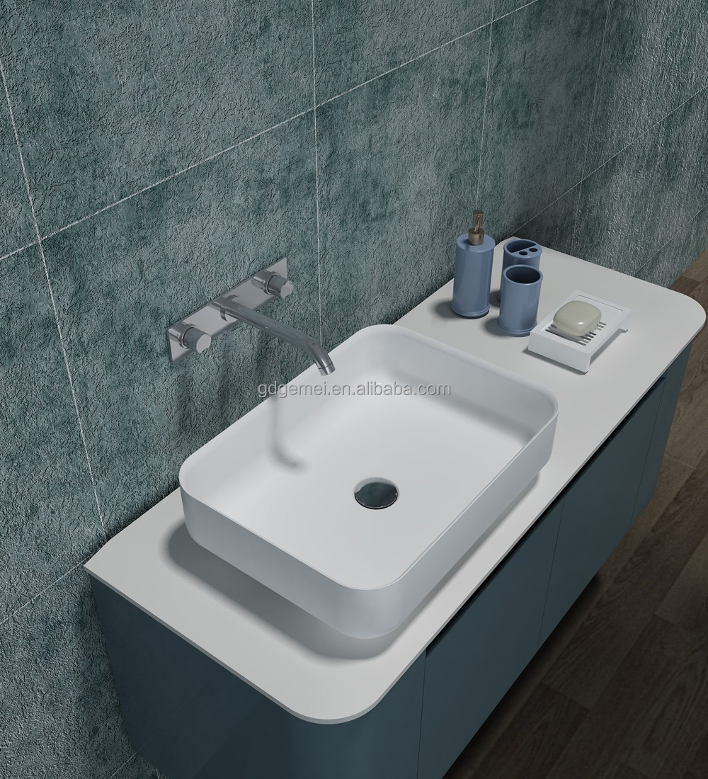 acylic bathroom sink stone wash basin artificial stone bathroom vanity cabinet basin