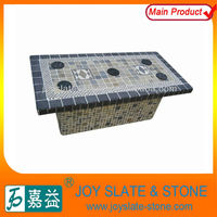 Rectangle garden mosaic table patterns