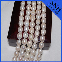 10-11mm white color pearl beads with large hole
