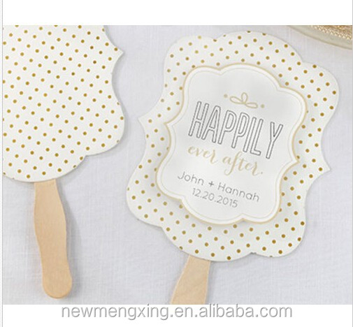 Rustic Hand Fan Wedding Favor DIY Menu Program