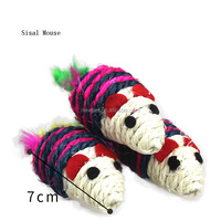 China supplier hot selling sisal mice of cat toys fur cat toy