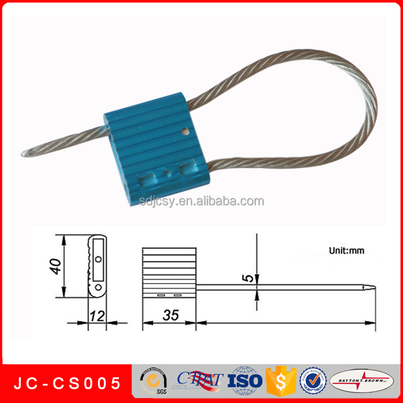 JC-CS005 High security tensile steel wire/cable seal