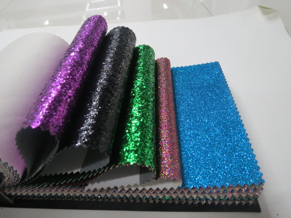 Chinese cheap golden fabrics shoe materials for high heel glitter material for clothing