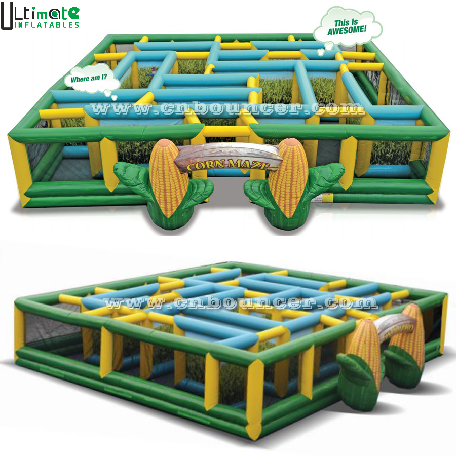 Outdoor giant inflatable corn maze for outdoor entertainment