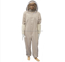 Chinese supplier Beekeeping Suit double hat cotton protective bee suit