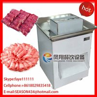 QW-8 stainless steel automatic pork slicing cutting chopping machine for western restaurant