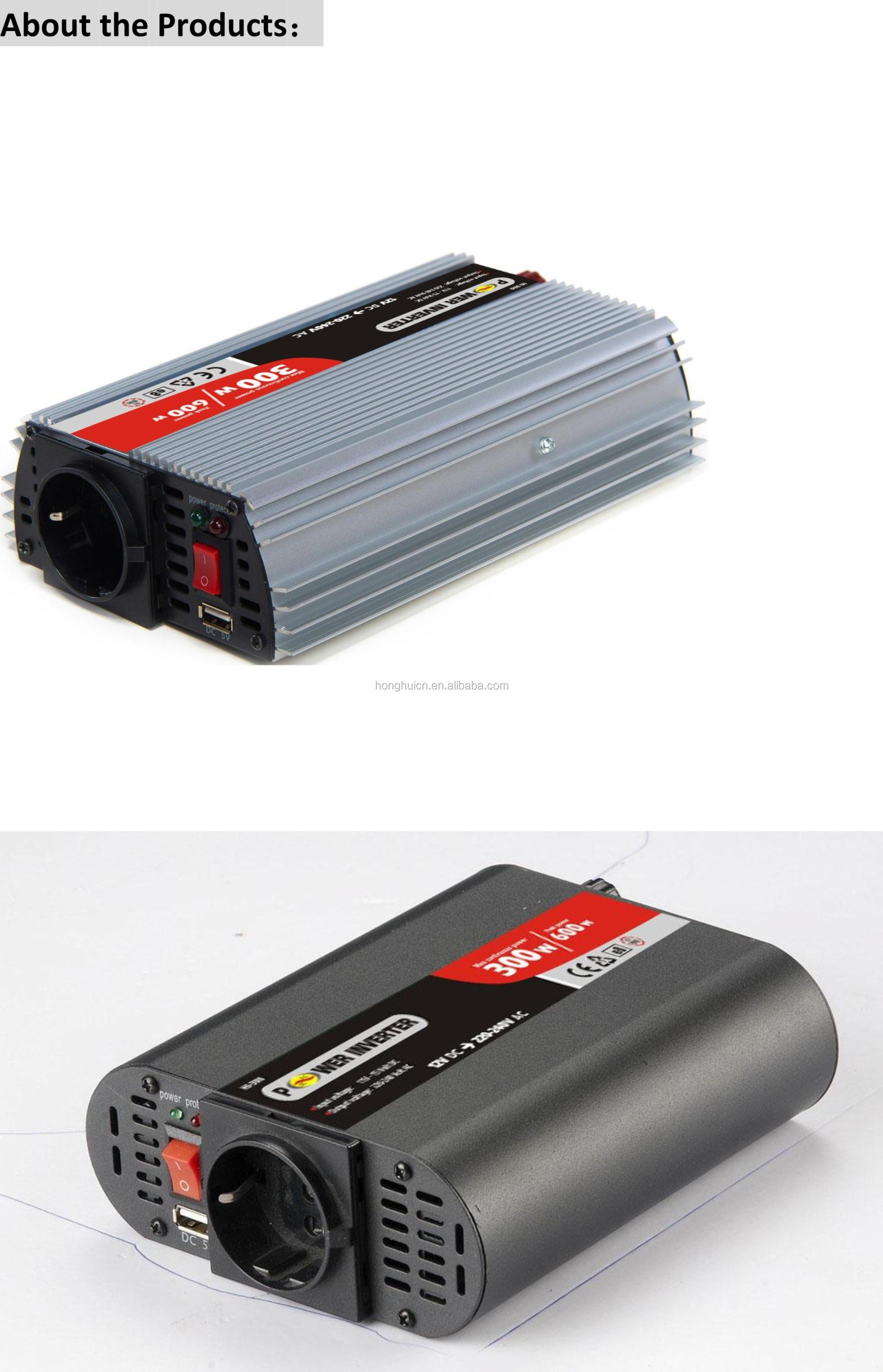 300w surge 600w dc ac modified sine wave inverter with rohs/dc to ac power inverter