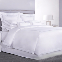 China High Quality Bedroom 100% Cotton White Runner Quilt Cover Bedding Sheet Hotel Bed Set